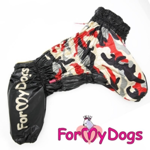 ForMyDogs | Regnjakke – Black camouflage, Male str. C1
