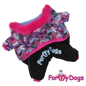 ForMyDogs   Overall – Pink pattern, female str. 16