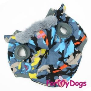 ForMyDogs | Jakke – Blue&grey camouflage, unisex str. 12