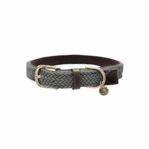 Kentucky Dogwear | Flettet halsbånd, Grå