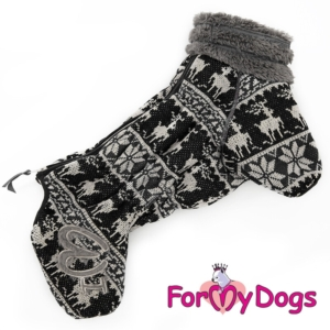 ForMyDogs | Varm overall – Black deer, male str. 14