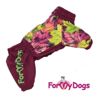 ForMyDogs | Regnjakke – Leaves, Female str. B2