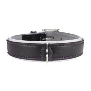 Hunter | Læder halsbånd, grå