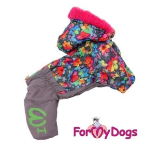 ForMyDogs   Overall – Grey&pink, female str. 20