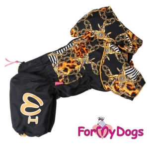 ForMyDogs   Overall – Gold chains, female str. 22