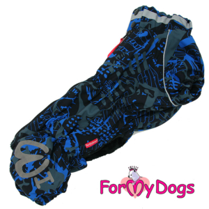 "ForMyDogs Gravhund | Overall, ""Blue"", Male"