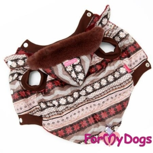 ForMyDogs | Jakke – Brown pattern, unisex str. 10