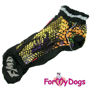 "ForMyDogs Gravhund | Regndragt, ""Honeycomb"", Male"