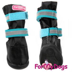 ForMyDogs | Vandafvisende boots, sort/blå