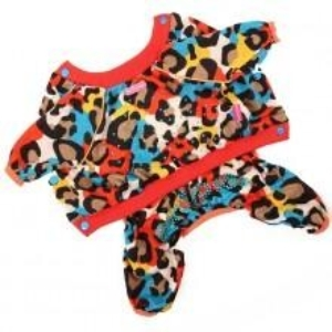 ForMyDogs | Suit – Red leopard, unisex str. 20