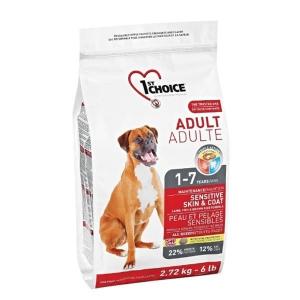 TILBUD spar 25%   1st Choice hundefoder, Sensitive Skin & Coat