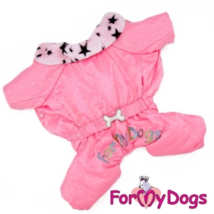 ForMyDogs   Overall – Pink star, female str. 22